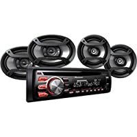 Pioneer Complete Car Audio Package, DXT-X2669UI, 200W Stereo with Two 6.5 Speakers and Two 6 x 9 Speakers