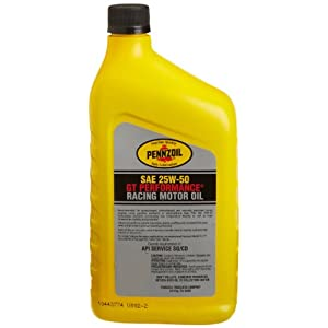 Pennzoil 25W-50 Racing Oil, GT Performance Oil – 1 Quart (Case of 12)