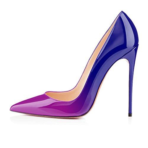 Tacco Col Scarpe Scarpe Tacco Tacco Donna Scarpe Scarpe Donna Classiche Viola Col Tacchi Alti da uBeauty blue Xx7qwx