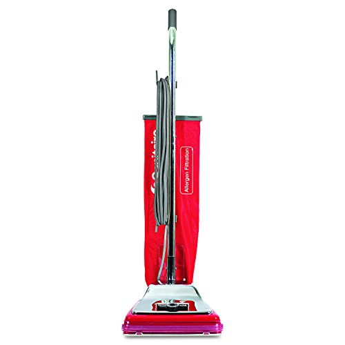 - Sanitaire SC888M TRADITION Bagged Upright Vacuum, 7 Amp, 17.5 lb, Chrome/Red