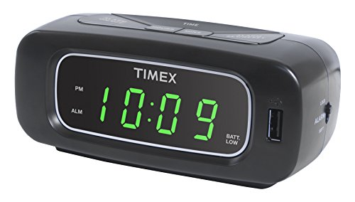 Timex T1210B Alarm Clock with 1 Amp USB Charge Port