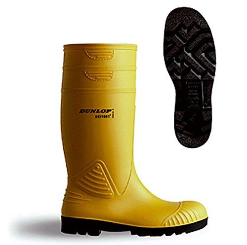 Dunlop A44223110 Acifort H/Duty Yellow Welly Size 10 by Dunlop
