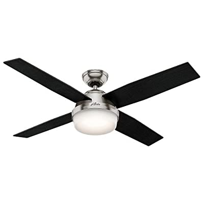 "Hunter Fan Company 52"" Dempsey Ceiling Fan with Light and Remote"