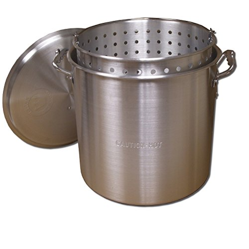 King Kooker KK32 32-Quart Aluminum Boiling Pot with Punched