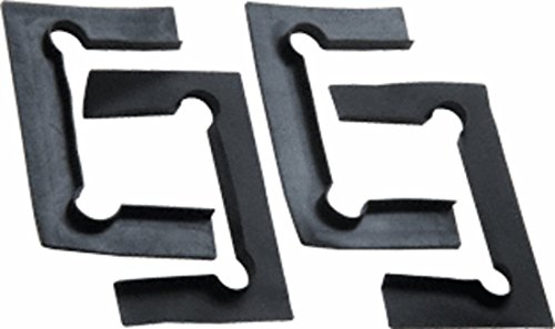 CRL Black Replacement Gasket Pack with Fin for Geneva Hinges