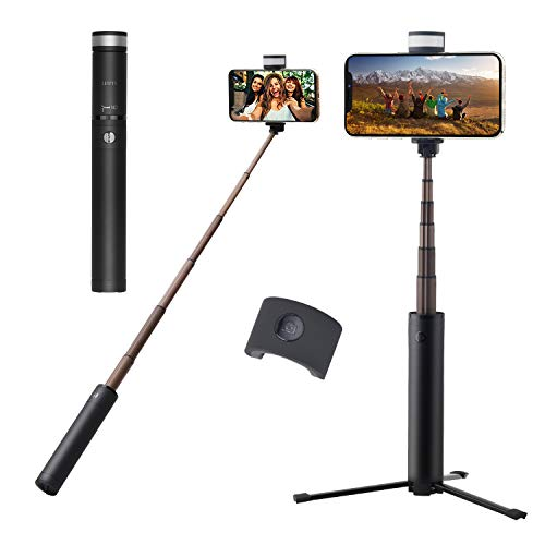 Selfie Stick Tripod, Extendable Selfie Stick Tripod with Detachable Wireless Remote and Fill Light for iPhone X/Xr/Xs/iPhone 8/8 Plus/iPhone 7/7 Plus, Galaxy S9/S9 Plus/S8/S8 Plus/Note8,Huawei,More (Best Cell Phone In 10000 Range)