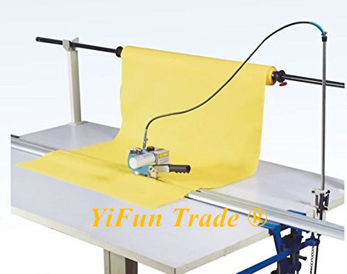 YJ-D108 High Speed Electric Control Cloth End Scissor Time Delay Electric Cutter Cutting Machine Cloth Fabric Cutter 14000 r/ min (Cutter & Track, no table ) by YF&EB