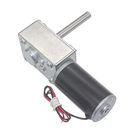 NO LOGO WJN-Motor Couleur : 12 RPM, Taille : 12V 1pc 12V DC 24V R/éducteur Moteur 12-470RPM Worm r/éversible /à Couple /élev/é Turbo Motor/éducteur Mini R/éducteur Moteur