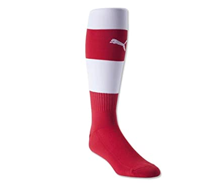 4d0dbbcb2b62d3 Puma Leg Wear Athletic Team Hoop Performance Soccer Socks Adult (Red White