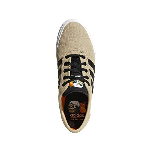 adidas Mens Adi-Ease Fashion Sneaker, Clear Brown/Blue Bird/White, 10.5 M US Raw Gold S, Core Black, Ftwr White