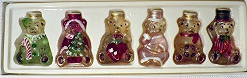 Merck Old World Christmas Teddy Bear Light Covers Set (6) ()