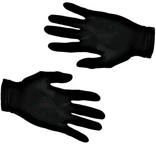 200 Vakly Black Latex Gloves - Powder Free - Medium