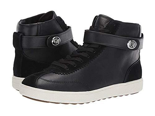 Coach Women's C213 - High Top Sneaker Sheep Nappa Suede Black/Black 6.5 B US - Black Footwear Suede Nappa