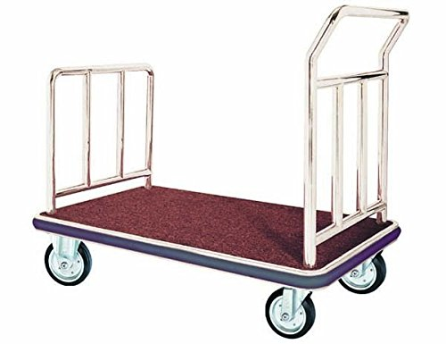 Aarco FB-1C Bellman's Hand Truck. Color: Chrome Size: 42in L x 24in.W x 36in.H. (Bellmans Hand Trucks)