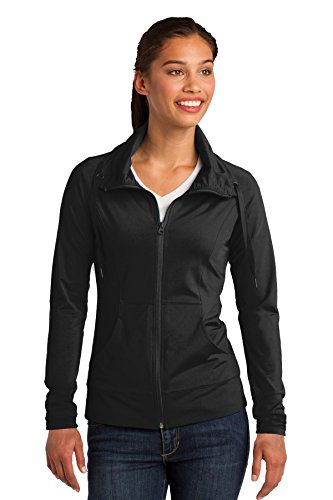 Sport-Tek LST852 Women's Sport-Wick Stretch Full-Zip Jacket - Black LST852 S Black Sport Jacket