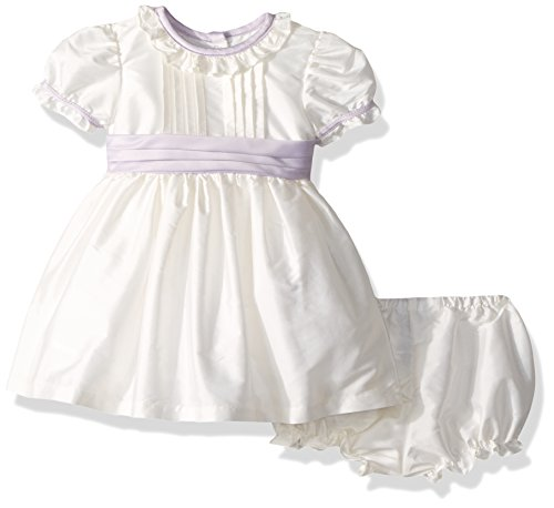 Laura Ashley London Baby Girls Classicly Sweet Taffeta Party Dress, Off Off White 24M