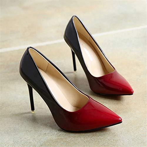talons Chaussures chaussures pour femmes à dégradé femmes Chiusa aiguilles pour talons Punta rouge UCYr5qnCxw