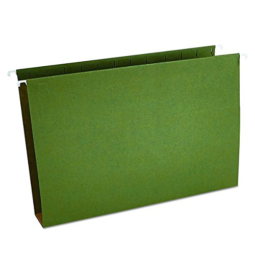 Universal 14152 Two Inch Box Bottom Pressboard Hanging Folder, Legal, Standard Green, Box of 25