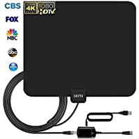 TV Antenna,SKYTV TV Antenna 60 to 70 Mile Range Amplified Indoor HDTV Antenna with Detachable Amplifier Signal Booster and Coax Cable