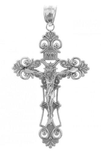 Sterling Silver Inri Crucifix Pendant Sterling Crucifix