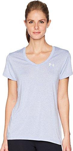 Tech shirt Talc T Armour metallic Femme Manches Silver Blue Courtes Under 7wgU5f