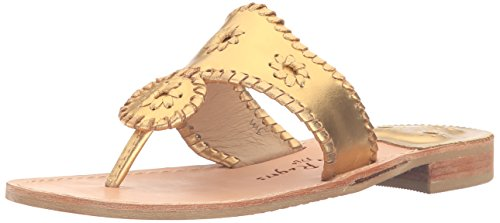 Jack Rogers Damen Hamptons Sandalen, UK / US / EU womens, Dorado (Gold), 36 EU
