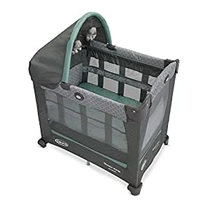 Graco Travel Lite Crib | Travel Crib Converts from Bassinet to Playard, Manor