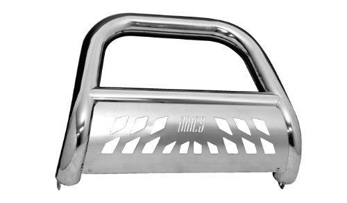 Aries Automotive 35-3007 Stainless Steel Bull Bar with Skid Plate
