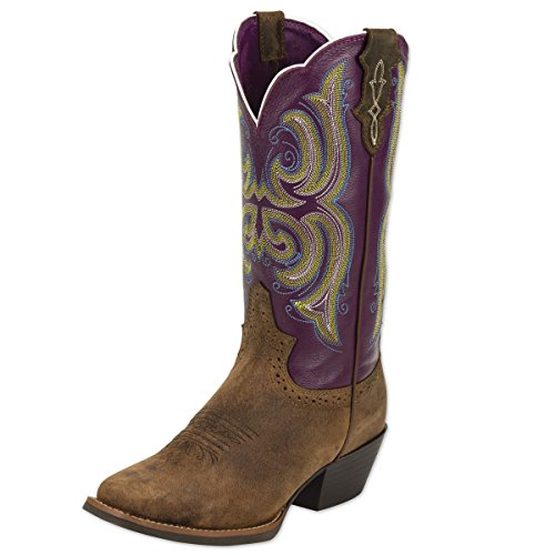 Justin Women S Stampede Western Cowgirl Boot With Rubber