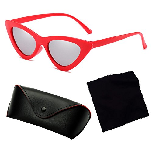 Vintage hibote Cat Eye Sombras Pequeño Retro Sunglasses Marco UV400 Triangle C1 ZZPxr0