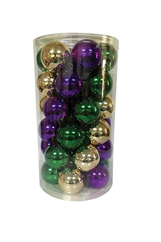 (Santa's Workshop 19002 Shatter Proof Ball Ornaments in 3 Assorted Colors, 60mm, Multicolored)