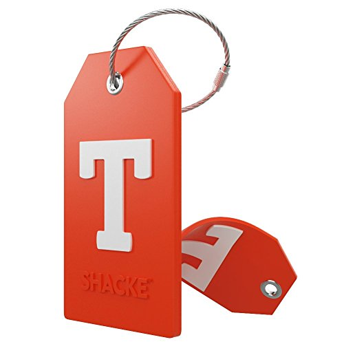 Initial Luggage Tag with Full Privacy Cover and Stainless Steel Loop – (Letter T)