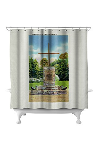 Fort Ticonderoga, New York - Marquis de Montcalm Monument Scene (71x74 Polyester Shower Curtain)