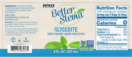Now Foods Stevia Glycerite, 8 Fl Ounces (Pack of 2)
