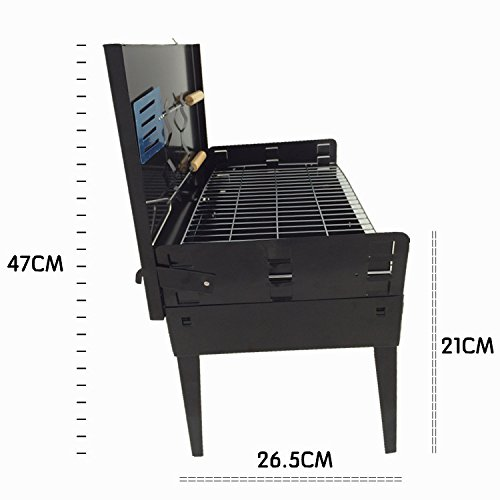Pinty Portable Charcoal Grill,Carbon Steel BBQ Grill Lightweight Barbecue Grill for Outdoor Campers Barbecue Lovers