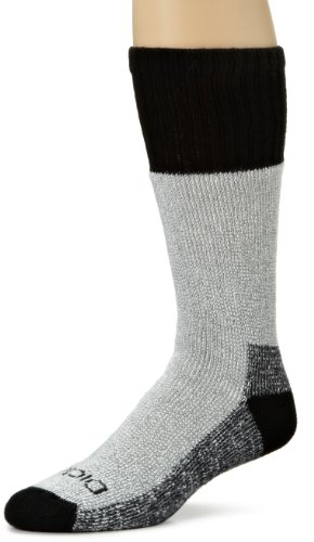 Dickies Men's 2 Pack High Bulk Acrylic Thermal Boot Crew Socks, Black, Sock Size:10-13/Shoe Size: - Sock Heavyweight Weather Cold Boot