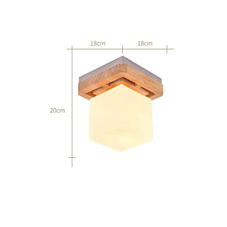 AOLI Luz de Techo Lámpara de Techo de Madera Maciza Japonesa ...