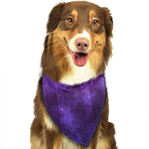 WUGOU Dog Bandana Sky Star Night Cute Pet Pack Washable Triangle Bibs Scarfs Kerchief Set Accessories for Dogs and Cats