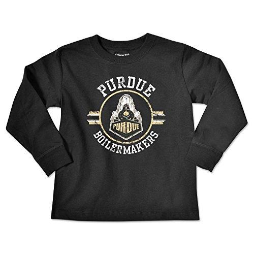 College Kids NCAA Purdue Boilermakers Toddler Long Sleeve Tee, 5/6 Toddler, Black ()