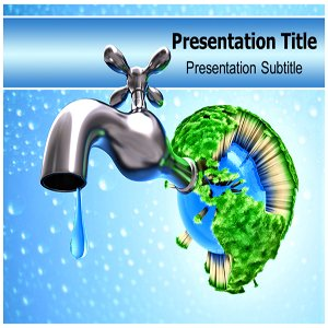 Amazoncom Save Water PowerPoint Template Backgrounds On - Saving powerpoint templates