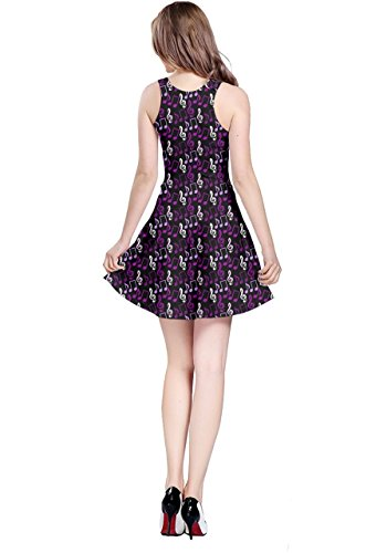 Treble Music Notes CowCow Clef Purple Sleeveless Dress Womens qPz8wH