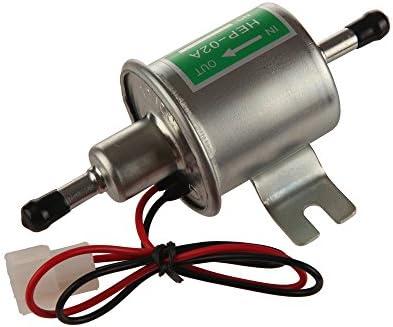 Electric Fuel Pump 12V 4-7 PSI Universal Low Pressure Gas Diesel Inline HEP-02A