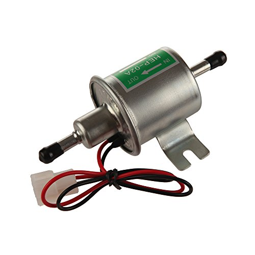 100 Psi In Line Heater - MIDIYA HEP-02A High Pressure (4-7 PSI) Universal 12V Heavy Duty Gas Diesel Inline Electric Fuel Pump Metal Solid Petro Gasoline or Diesel Engine Suitable Car Truck,Boat, Motorcycle, Carburetor, Lawn