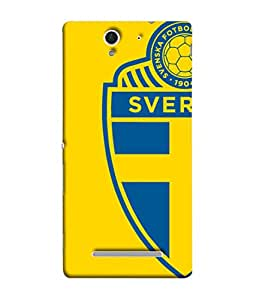 ColorKing Football Sweden 04 Yellow shell case cover for Sony Xperia C3