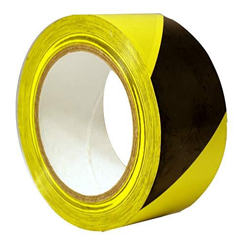 (StaticTek Hazard Marking Floor Tape   Caution Warning Safety Stripe Vinyl Tape   2 Inch X 108 Foot Roll (Yellow/Black (3)