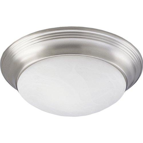 Progress Lighting P3688-09 Alabaster Glass One-Light Close-To-Ceiling, Brushed Nickel, 11-1/2
