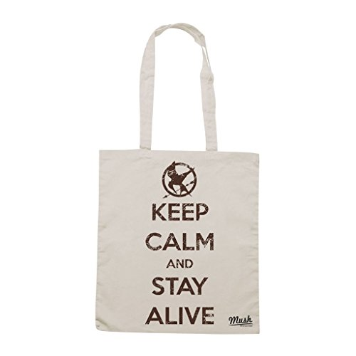 Borsa Keep Calm And Stay Alive Hunger Games - Panna - Film by Mush Dress Your Style