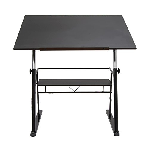 Offex Zenith Drafting Table - Black by Offex