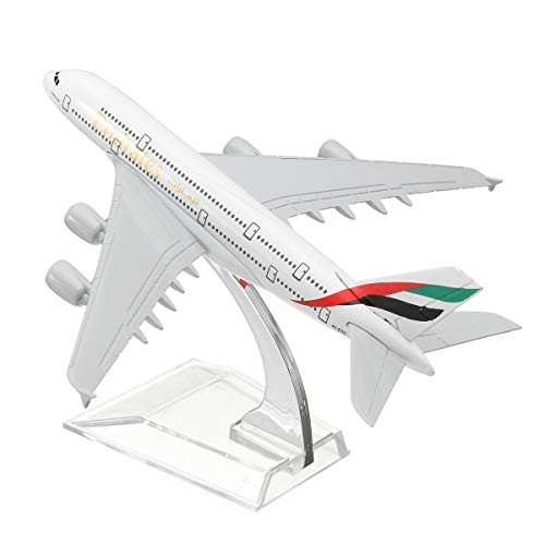 (Airplane Models,16CM Metal Plane Model Aircraft The United Arab Emirates A380 Aeroplane Scale Desk Toy Gift for Adult Children)