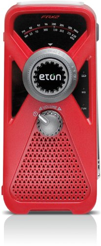 Eton FRX2 Hand Turbine AM/FM Weather Radio with Smartphone Charger - Red (NFRX2WXR)